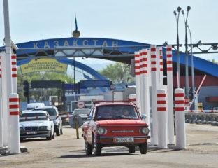 Frontière Kazakhstan Kirghizstan