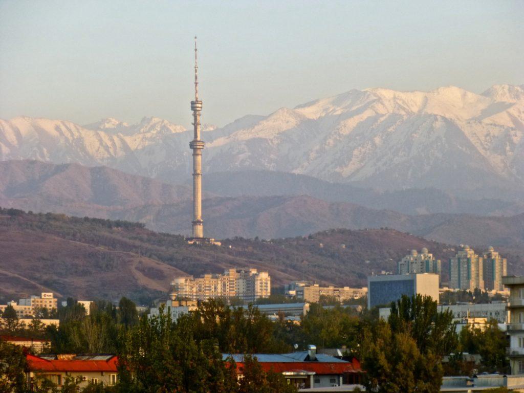 Vue Almaty Kazakhstan Ancienne Capitale