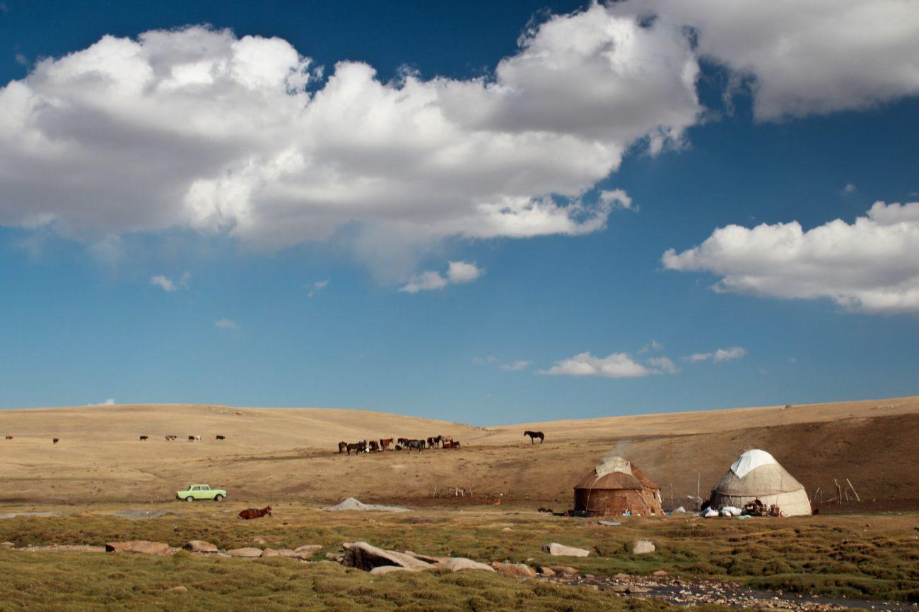 Camp de yourtes Ak-Talaa Kirghizstan Kirghizistan