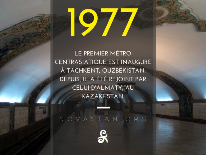 Métro Tachkent Fact 1977 Construction Asie centrale
