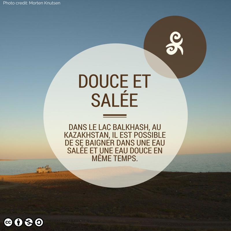 Lac Balkach Kazakhstan Fact Eau douce salée