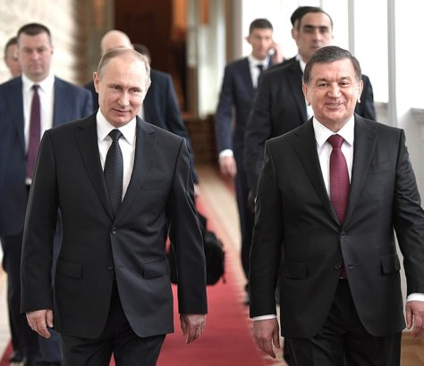 Vladimir Poutine Chavkat Mirzioïev Moscou Avril