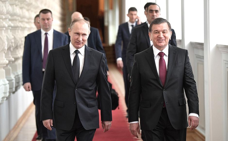 Vladimir Poutine Chavkat Mirzioïev Moscou Visite
