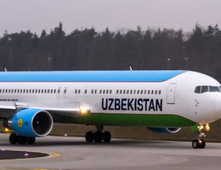 Avion Uzbekistan Airways Ouzbékistan