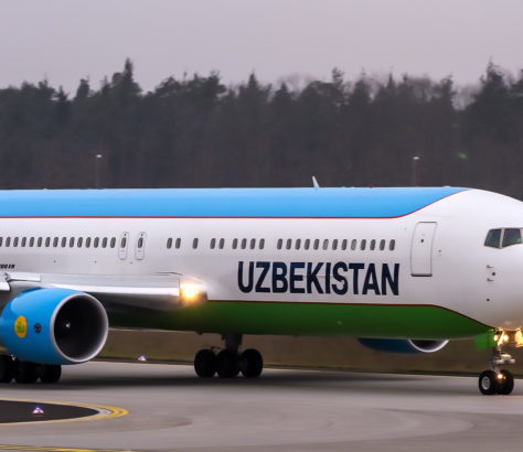 Avion Uzbekistan Airways Ouzbékistan