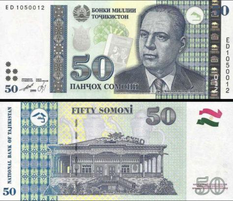 50 Somoni Tadjžikistan billet monnaie