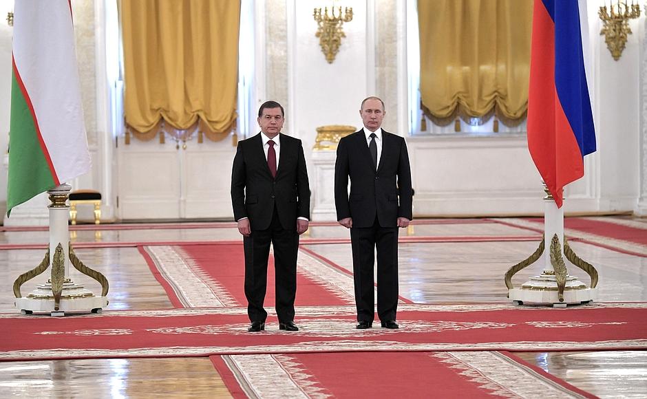 Rencontre Kremlin Président Ouzbékistan Russie