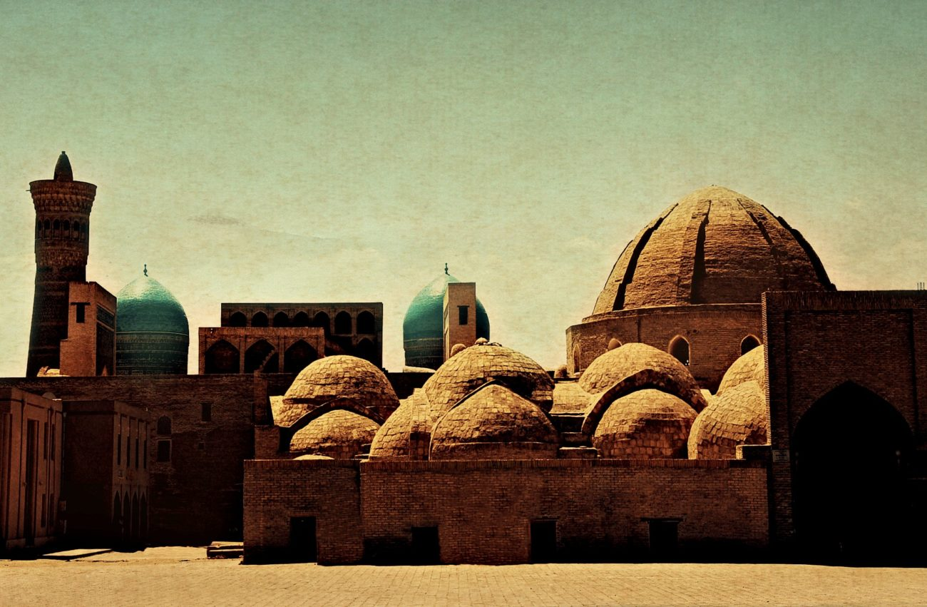 Boukhara Caravansérail Ouzbékistan Dome bleu