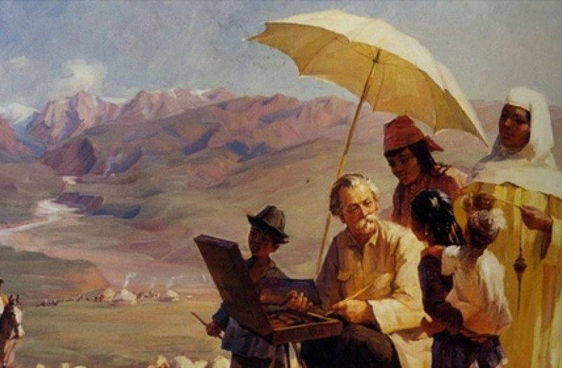 Nikolai Khloudov Peinture Kazakhstan Khludov