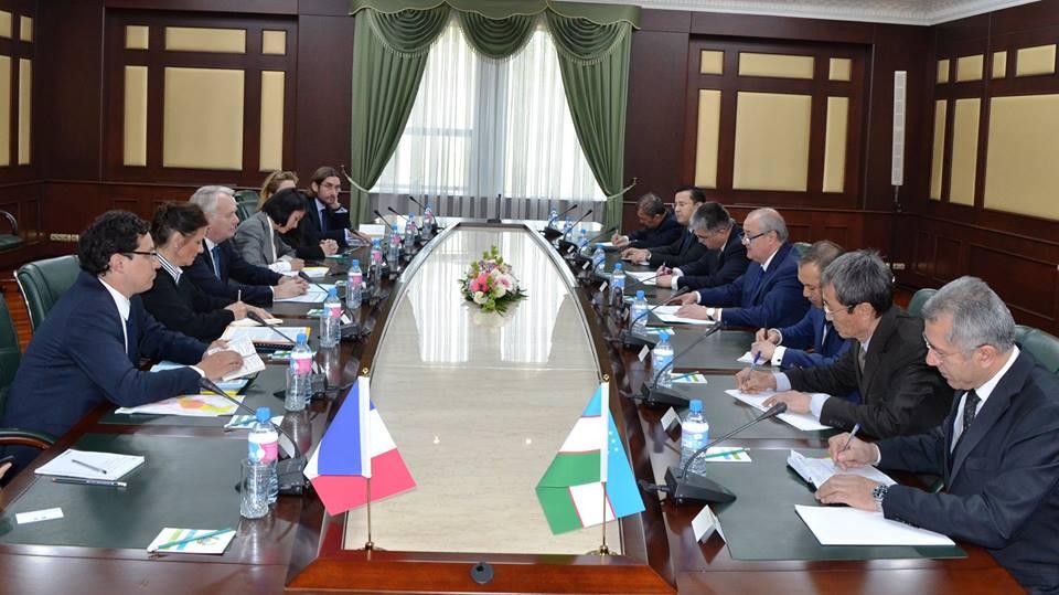 Délégation France Ouzbékistan Entretien