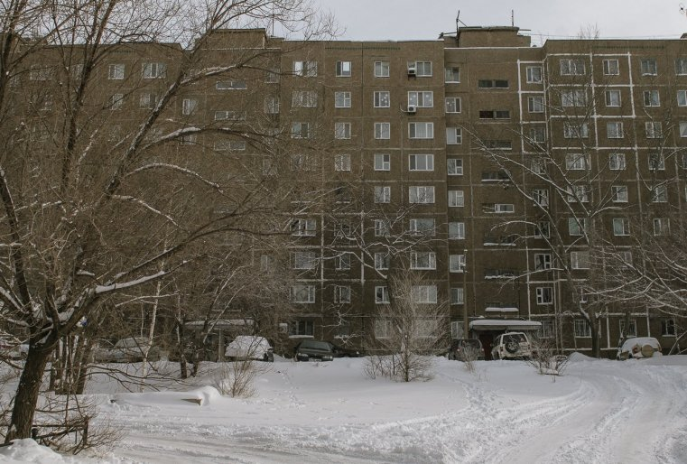 Temirtaou Kazakhstan immeuble neige hiver