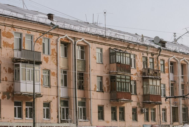 Temirtaou Kazakhstan immeuble froid neige