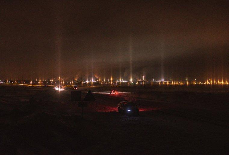 Temirtaou Kazakhstan combinat metallurgie nuit