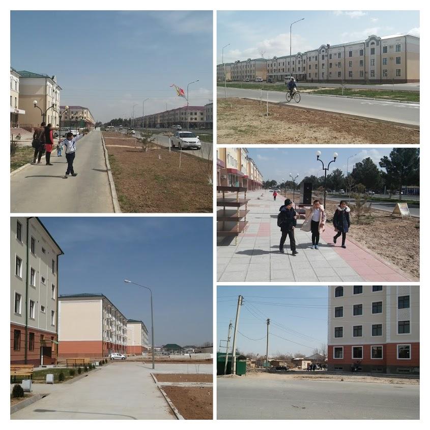 Termez Ouzbékistan collage rues immeubles vide