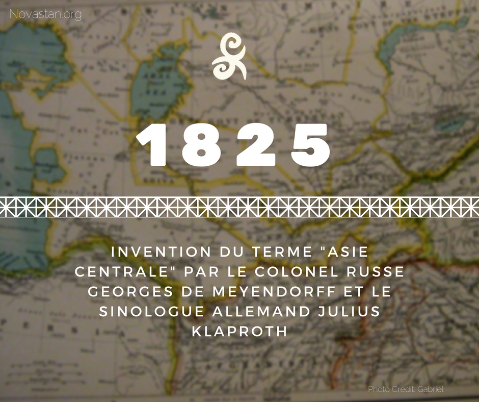 Asie centrale 1825 Central Asia Fact Invention Définition