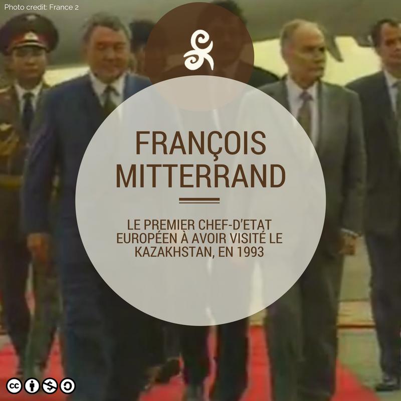 François Mitterrand Kazakhstan Visite Noursoultan Nazarbaïev Visite 1993