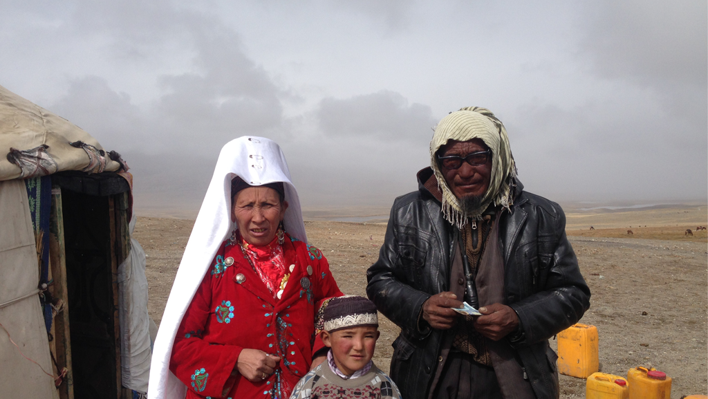 Pamir Kirghiz Afghanistan Famille