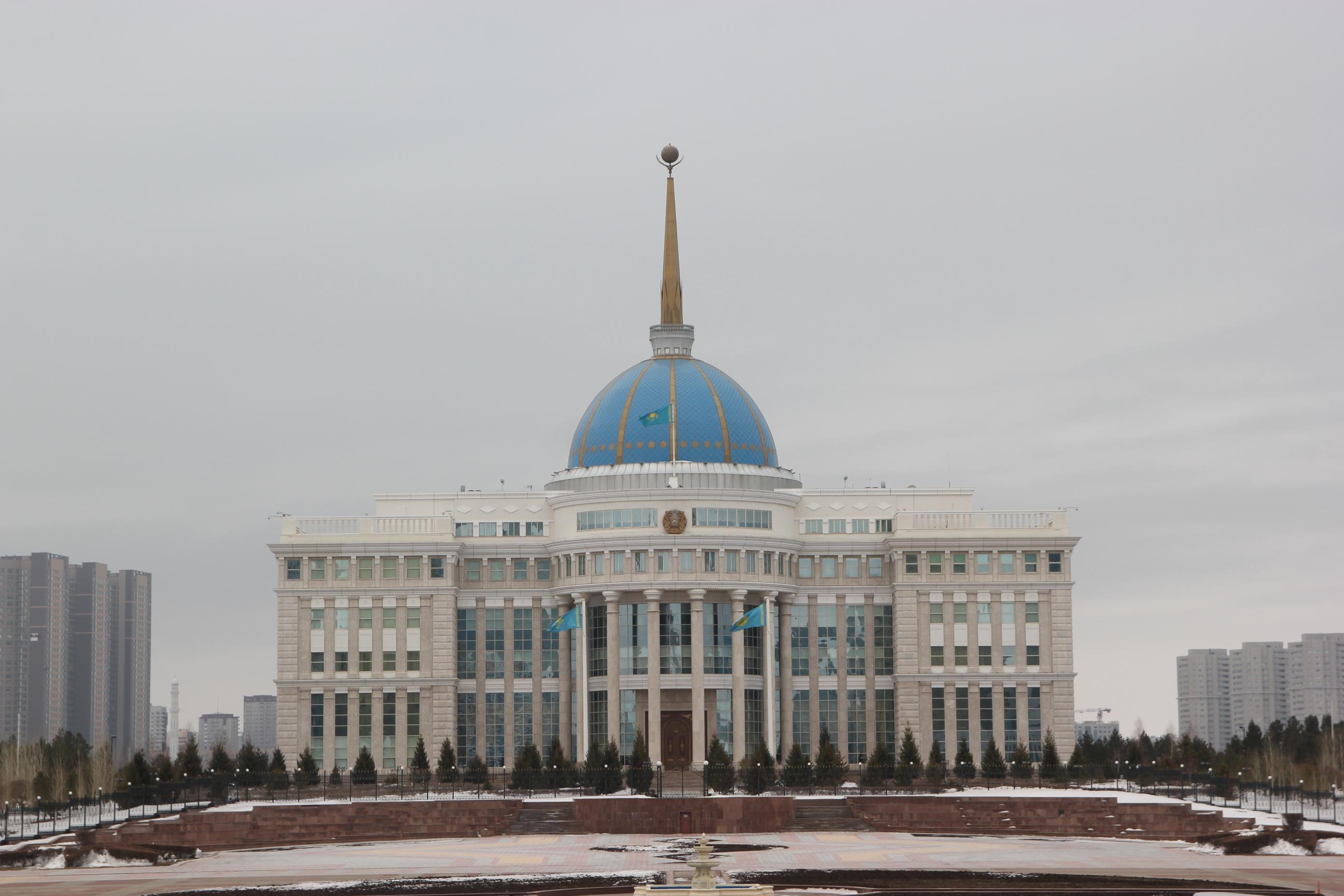 Le palais présidentiel à Astana.