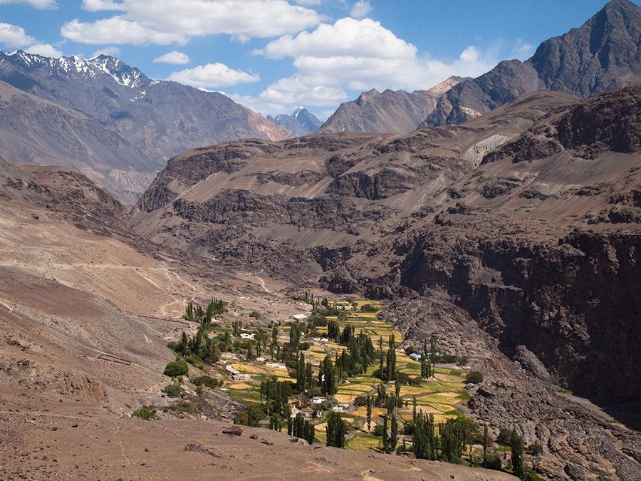 Pamir Tadjikistan Village prairie montagne