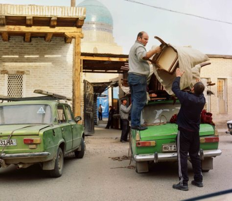 Boukhara Ouzbékistan Déménagement Lada