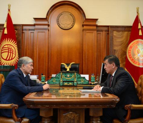Almazbek Atambaïev et Sooronbaï Jeenbekov