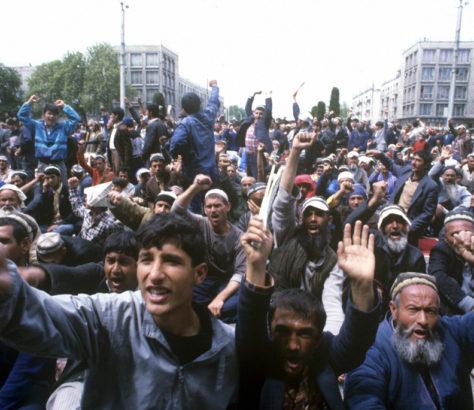 Manifestation Guerre civile Tadjikistan 1992 1997