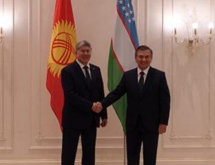 Chavkat Mirzioïev Almazbek Atambaïev OCS Rencontre frontière Ouzbékistan Kirghizstan