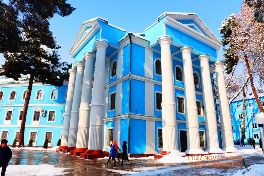 Douchanbé Architecture Tadjikistan Institut Médecine Vieux Bâtiment