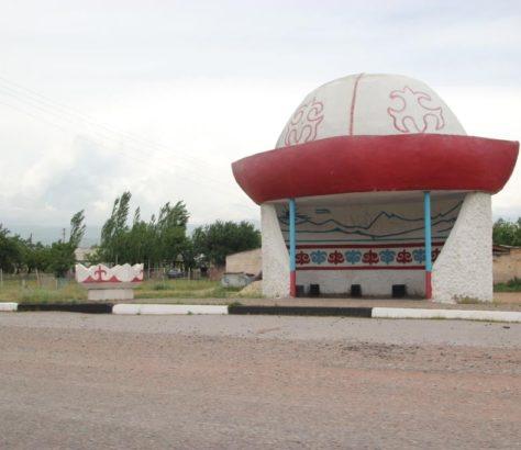 Kalpak Arrêt de bus Kirghizstan