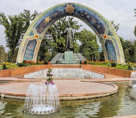 Douchanbé Architecture Tadjikistan Rudaki Fontaine
