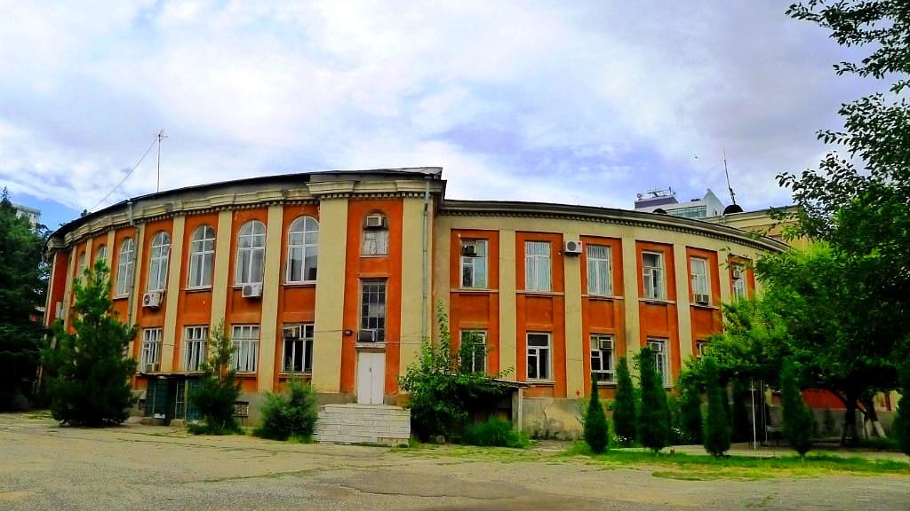 Douchanbé Architecture Tadjikistan Académie Sciences Comité Central Bâtiment vieux