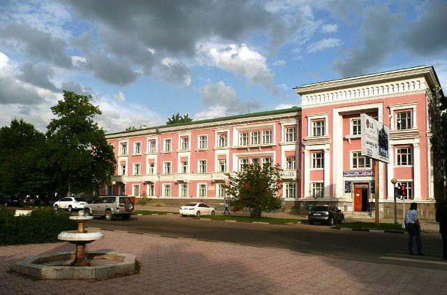 Douchanbé Architecture Tadjikistan Hôtel Vakhch Bâtiment Vieux Douchanbé