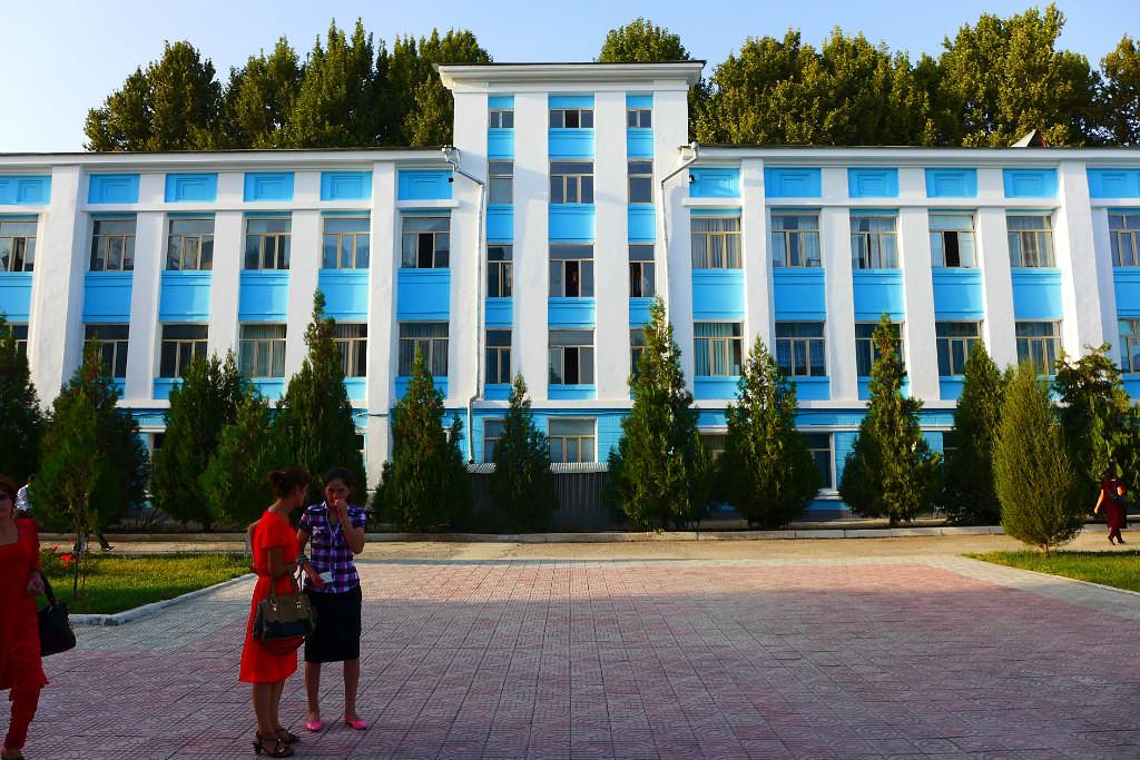 Douchanbé Architecture Tadjikistan Bâtiment institut Pédagogique Vieux