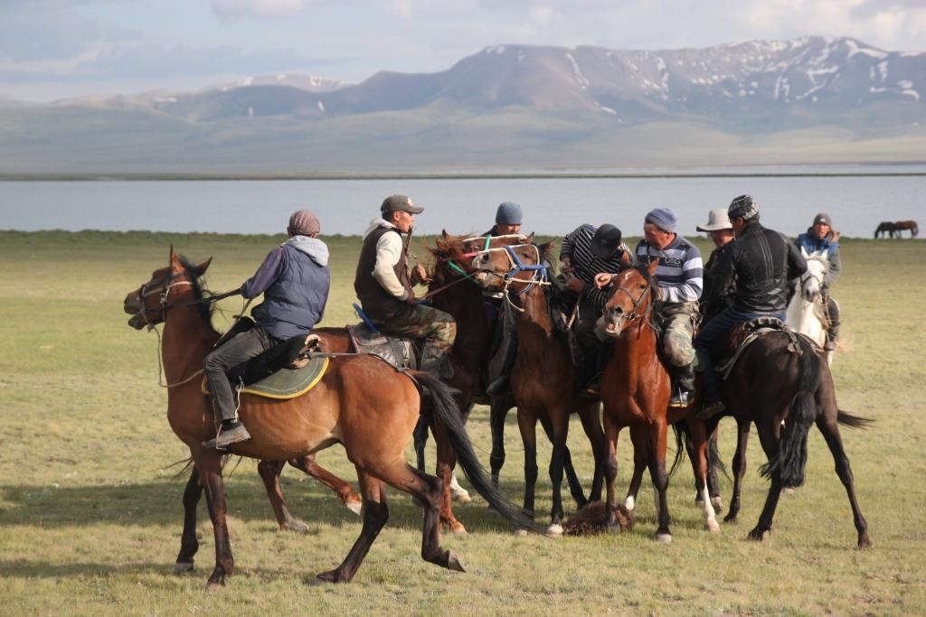 Kok boru Kirghizstan Sport Cheval Chèvre Jeu Nomade