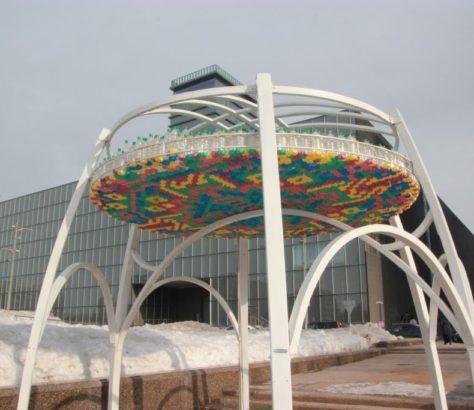 Kazakhstan Astana Kiosque Bouteilles EXPO 2017
