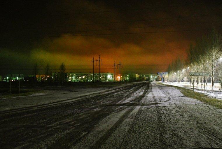 Ekibastouz Kazakhstan Industrie Route Neige