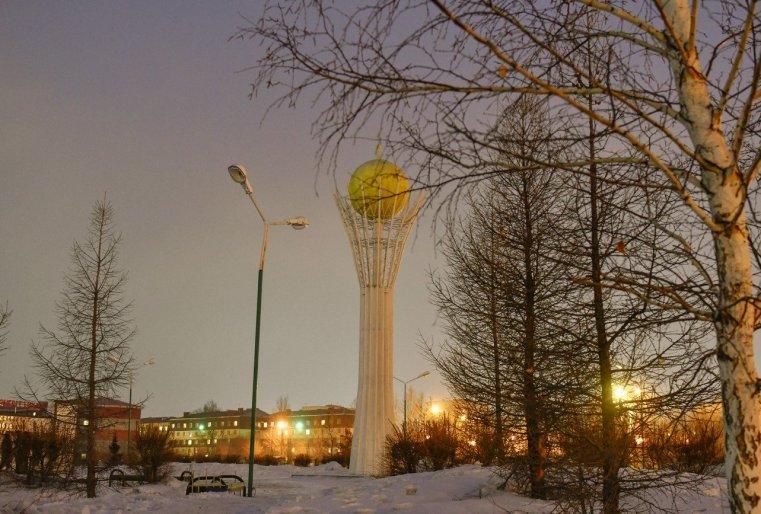 Ekibastouz Kazakhstan Baiterek Construction Sculpture