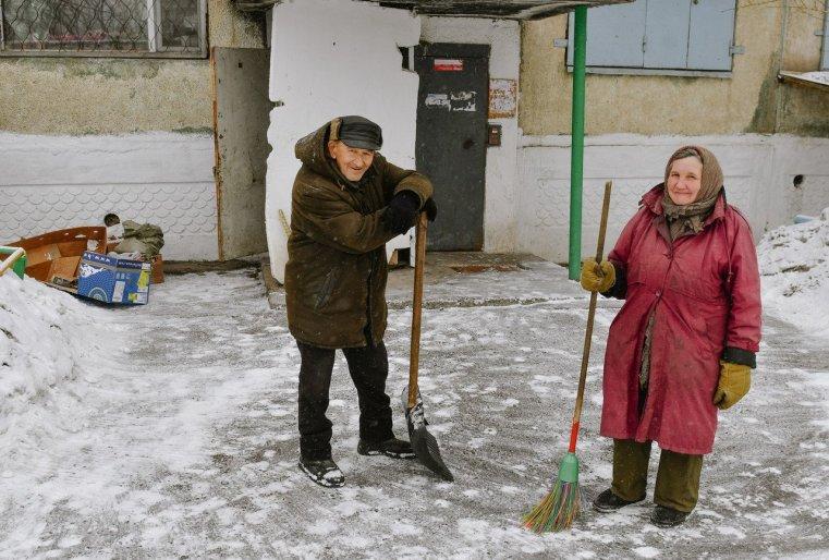 Ekibastouz Kazakhstan Concierges Ouvriers