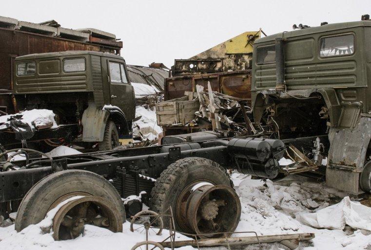 Ekibastouz Kazakhstan Kamaz Cimetière Garage