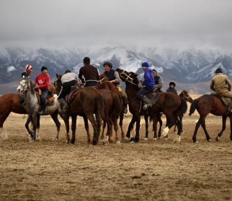 Kok Boru à Kyzyl Tuu au Kirghizstan