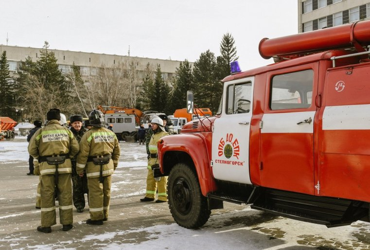 Stepnogorsk Kazakhstan Pompiers Visite