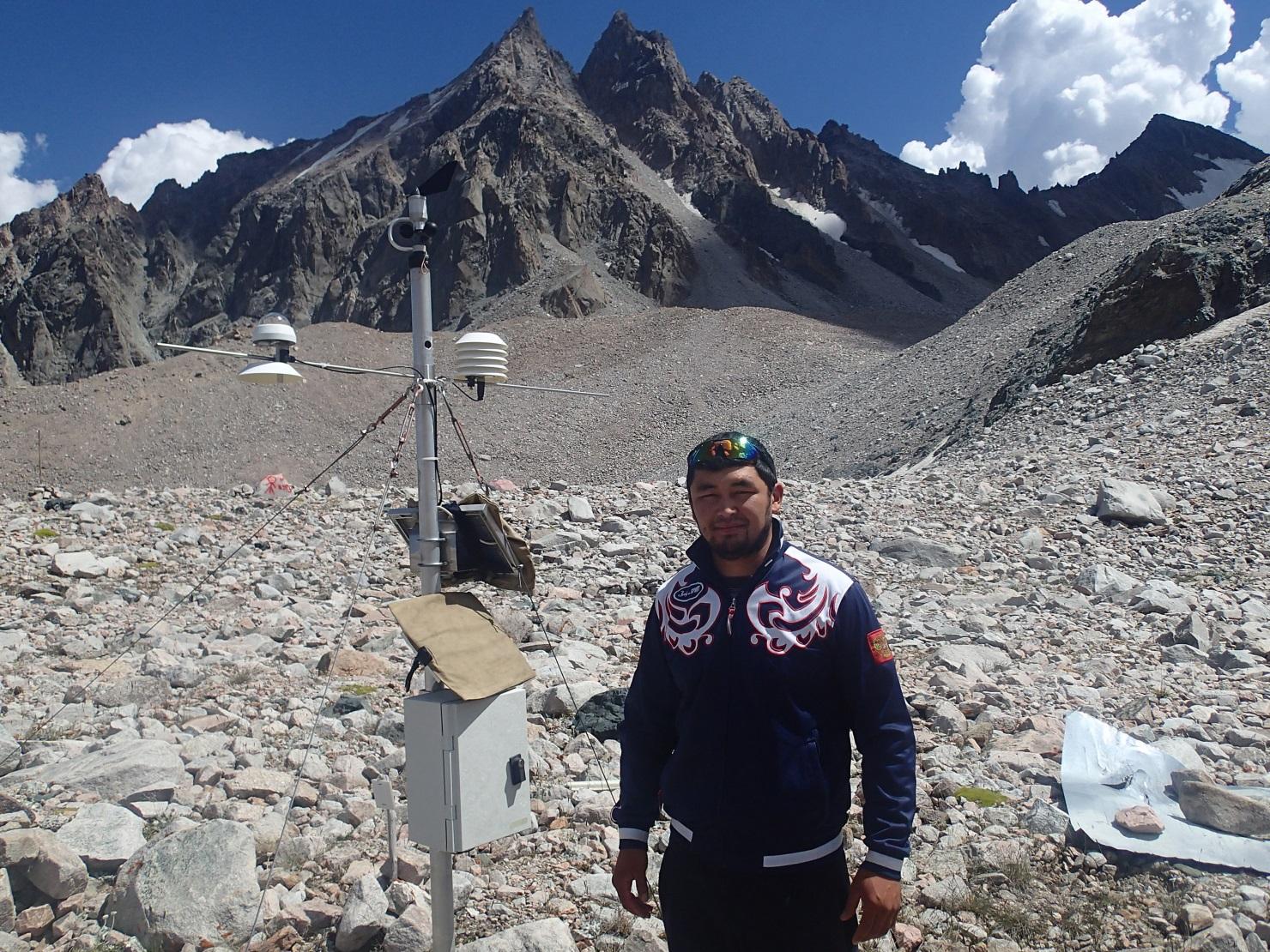 Glacier Kirghizstan Bichkek Nursultan Environnement Réchauffement climatique