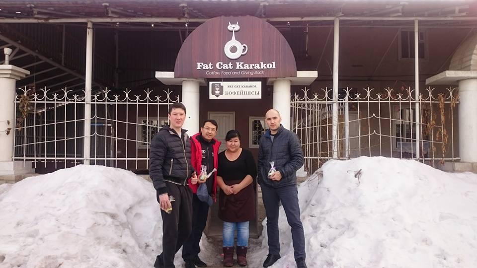 Fat Cat Karakol Kirghizstan Café responsable Jamilia Sidigaliev