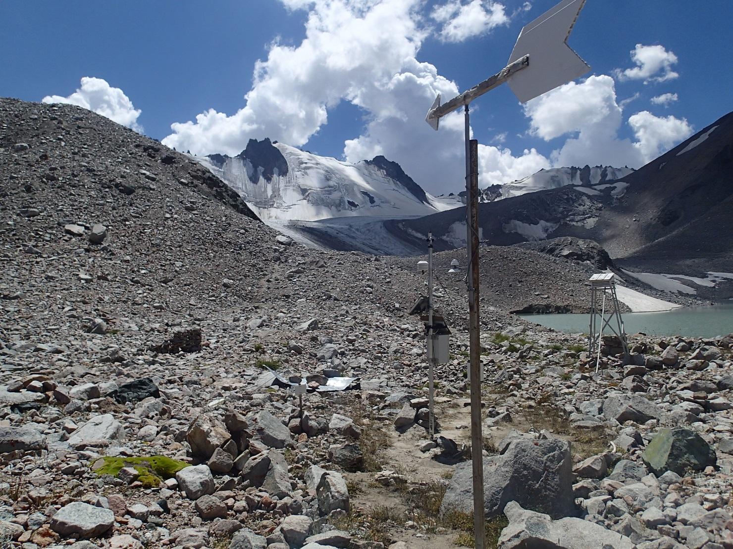 Glacier Kirghizstan Montagne Bichkek Environnement Réchauffement climatique