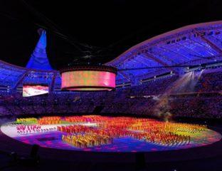 Jeux asiatiques Achgabat Turkménistan Stade Cérémonie ouverture Foule