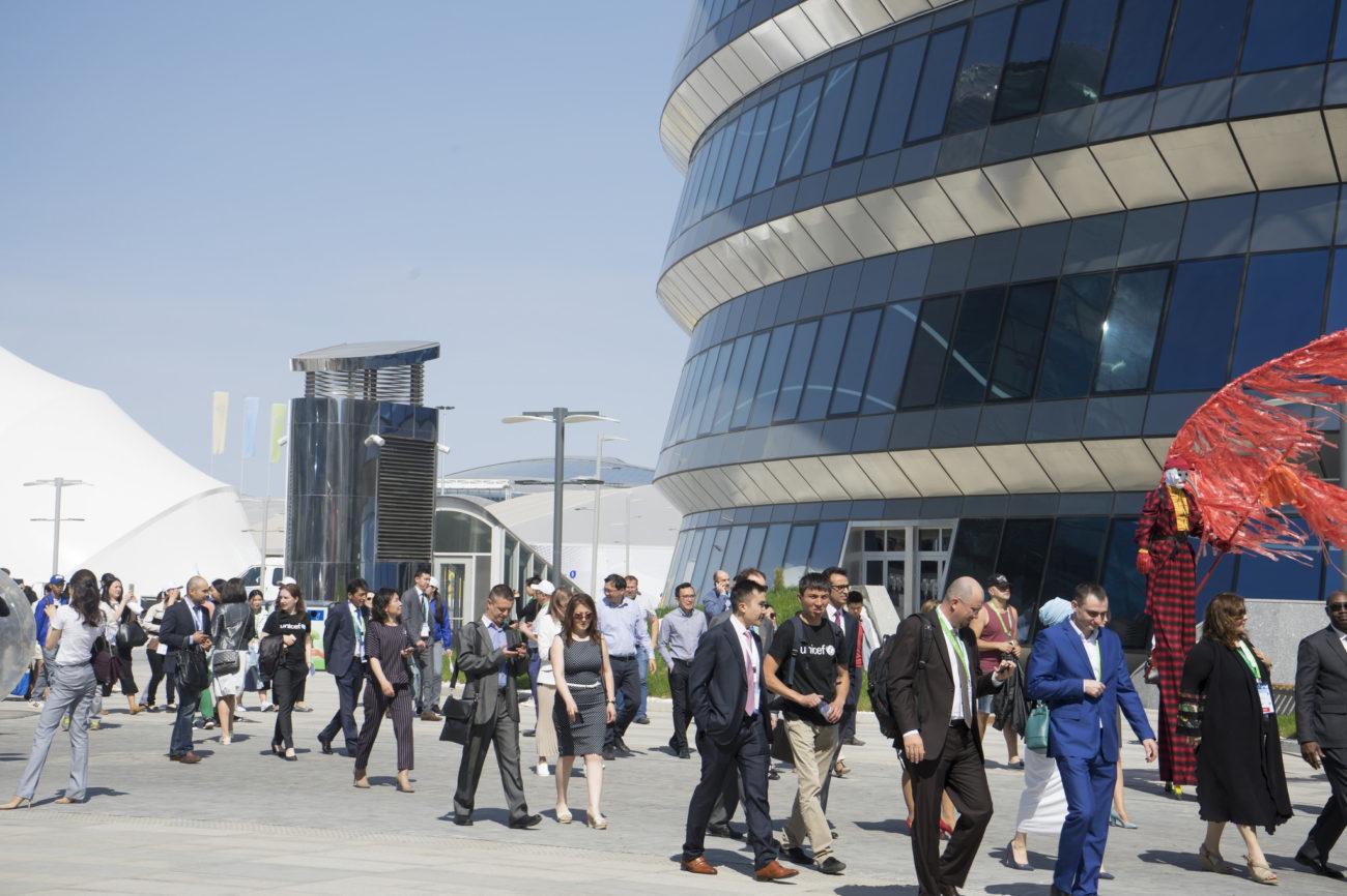 Expo 2017 Astana Kazakhstan Visiteurs Exposition Stands