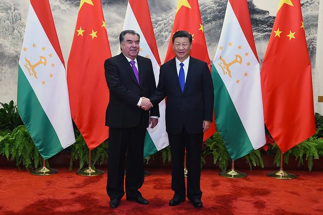 Xi Jinping Emomalii Rahmon Chine Tadjikistan Rencontre BRICS