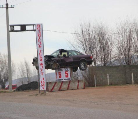 Voiture Kirghizstan Sécurité routière