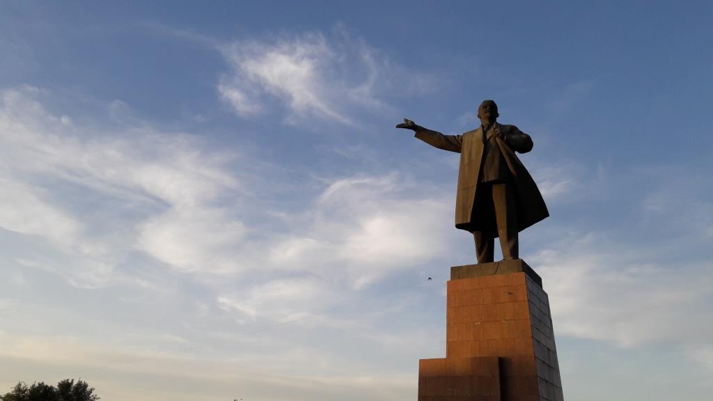 Och Kirghizstan Statue Lénine