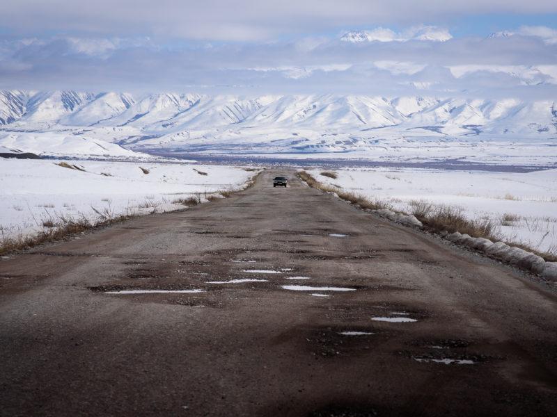 Route de montagnes Kirghizstan